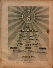 Huit rondinos agréables et brillans sur des motifs les plus favoris: pour le pianoforte ; Op. 419. Thème Barcarole favorite de Jean de Calais, Volume 8