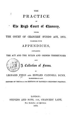 The Practice of the High Court of Chancery PDF