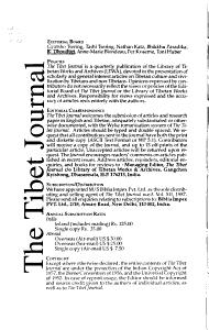 The Tibet Journal PDF