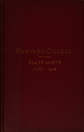 Harvard College Class of 1878 Secretary's Report