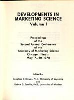 Developments in Marketing Science PDF