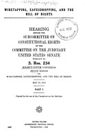 Wiretapping  Eavesdropping  and the Bill of Rights PDF