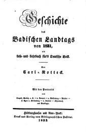 Geschichte des badischen landtags von 1831, als lese- und lehrbuch für's deutsche volk