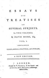 Essays and Treatises on Several Subjects: In Two Volumes