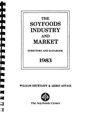 The Soyfoods Industry and Market  Directory and Databook