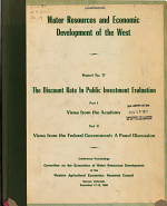 Water Resources and Economic Development of the West