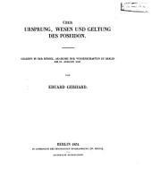 Über Ursprung, Wesen und Geltung des Poseidon: gelesen in der Königl. Akademie der Wissenschaften zu Berlin am 18. August 1850