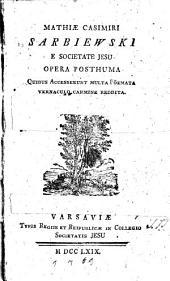 Opera Posthuma
