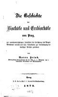 Die Geschichte der Bisch  fe und Erzbisch  fe von Prag0 PDF