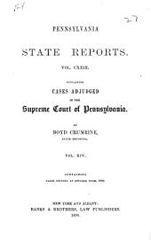 Pennsylvania State Reports: Volume 129