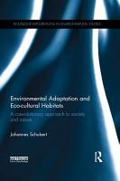 Environmental Adaptation and Eco cultural Habitats PDF