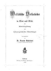 Westf  lische Volkslieder in Wort und Weise PDF