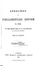 Speeches on Parliamentary Reform in 1866