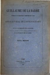 Guillaume de la Barre: roman d'adventure composé en 1318