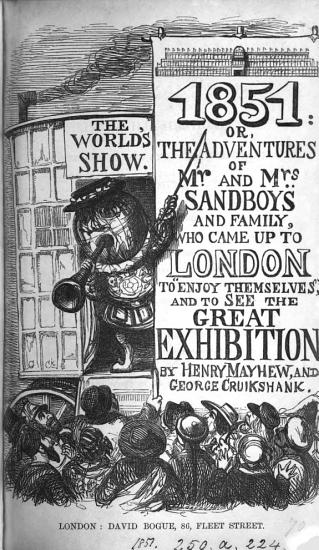 1851  or  The adventures of mr  and mrs  Sandboys  by H  Mayhew and G  Cruikshank PDF