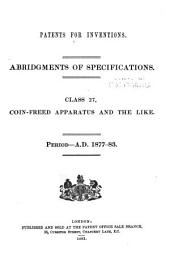 Patents for Inventions. Abridgments of Specifications: Volume 6