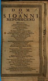 D. O. M. et S. Joanni Nepomuceno