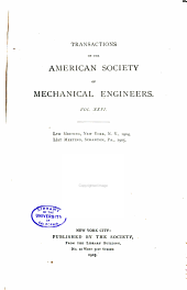 Transactions of the American Society of Mechanical Engineers: Volume 26