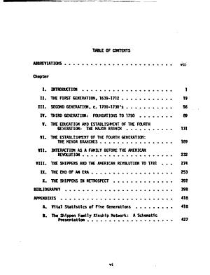 The Shippen Family PDF