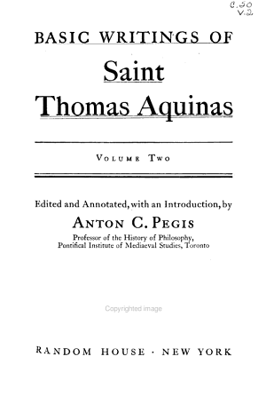 Basic Writings of Saint Thomas Aquinas  Man and the conduct of life  Summa contra gentiles  III  chapters 1 113  PDF