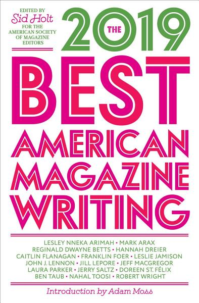 Download The Best American Magazine Writing 2019 Book