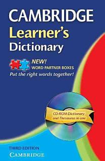 Cambridge Learner s Dictionary with CD ROM Book