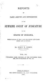 Reports of Cases Argued and Determined in the Supreme Court of Judicature of the State of Indiana: Volume 109