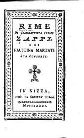 Rime di Giovambatista Felice Zappi e di Faustina Martati [i. e. Maratti] sua consorte