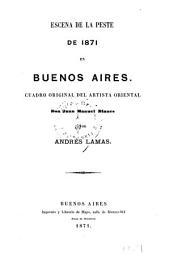 Escena de la peste de 1871 en Buenos Aires: cuadro original del artista oriental J. M. Blanes