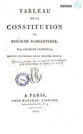 Tableau de la constitution du royaume d'Angleterre