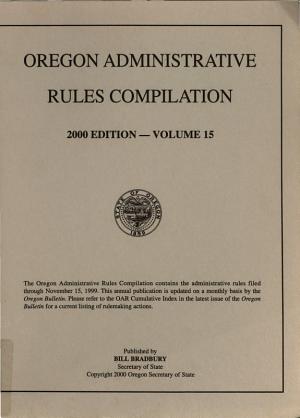 Oregon Administrative Rules PDF