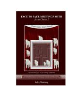Face To Face Meetings With Jesus Christ 2 Pdf
