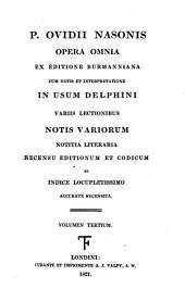 P. Ovidii Nasonis Opera omnia: Volume 3