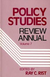 Policy Studies Review Annual: Volume 7