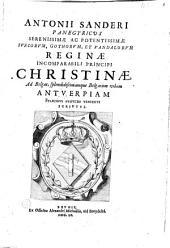 Panegyricus reginae incomparabili principi christinae, Antverpiae venienti scriptus