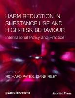 Harm Reduction in Substance Use and High Risk Behaviour PDF