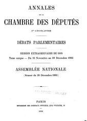Annales: Débats parlementaires, Volume16