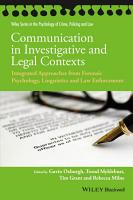 Communication in Investigative and Legal Contexts PDF