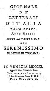 Giornale de' letterati d'Italia: Volume 6