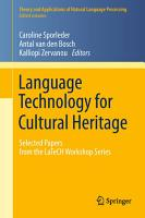 Language Technology for Cultural Heritage PDF