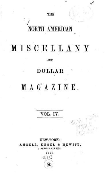 Download The North American Miscellany and Dollar Magazine Book