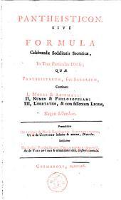 Pantheisticon, sive formula celebrandae sodalitatis Socratiae
