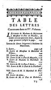 Lettres de Madame de Maintenon: a Monsieur d'Aubigné son frere, à différentes personnes, & à M. l'Abbé Gobelin, Volume4