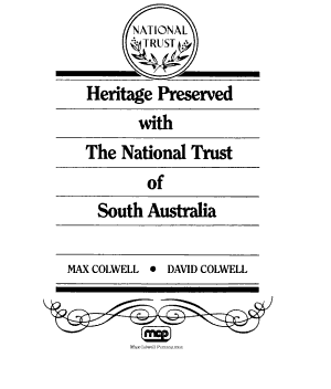Heritage Preserved with the National Trust of South Australia