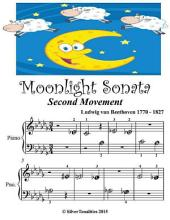 Moonlight Sonata Second Movement - Beginner Tots Piano Sheet Music