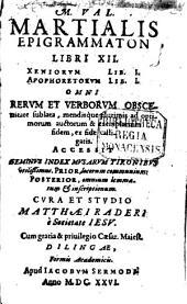 M. Val. Martialis Epigrammaton Libri XII