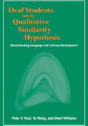Deaf Students and the Qualitative Similarity Hypothesis PDF