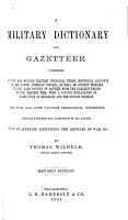A Military Dictionary and Gazetteer PDF