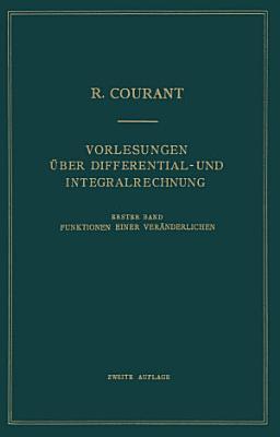 Vorlesungen   ber Differential  und Integralrechnung PDF