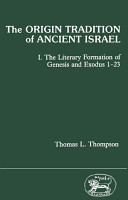 The Origin Tradition of Ancient Israel PDF